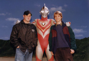 Random photo of me, August Ragone and Ultraman Gaia