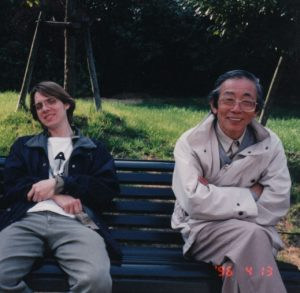 Me and Koichi Takano in 1996. He is hungover. I am not.