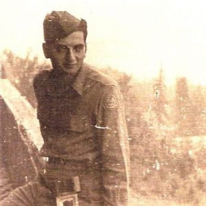 "My nice and nephew's grandfather Al Goldman at Hitler's ""Eagle's Nest"" in 1945"