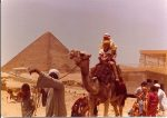 My mother and me on a camel in Egypt before she got sick.